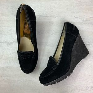 Michael Kors Rory Loafer Leather wedges size 8.5